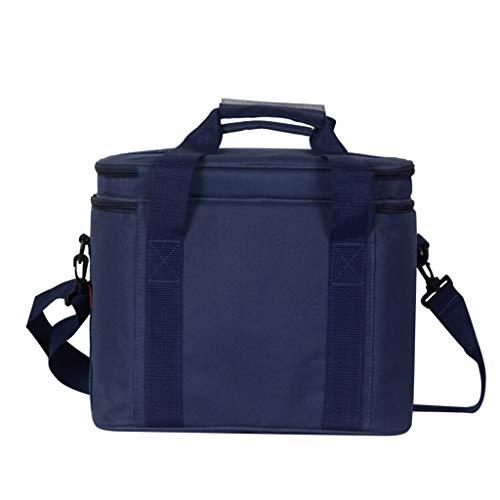 Viesky Picknick koeler lunchzakken dubbele laag thermische grote ijszak box schoudertas geïsoleerde auto strand grill camping blauw