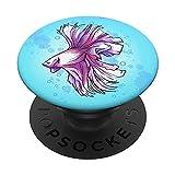 Acuario de mascotas del acuario de peces Betta PopSockets PopGrip Intercambiable