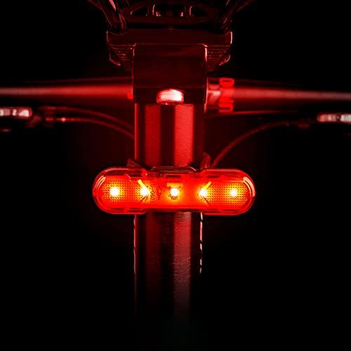 Faro trasero para bicicleta LED USB, batería recargable para bicicleta de montaña IPX4, impermeable, luz trasera LED