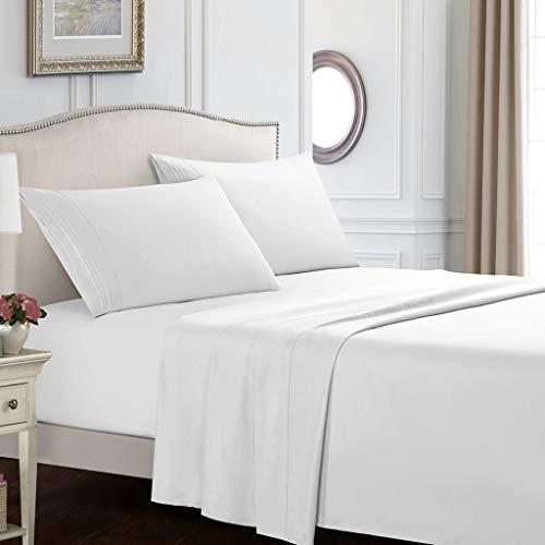 Bettlaken-Set - Hotelqualität Superweiche Bettwäsche-Set 35cm Deep Pocket Sheet Set...