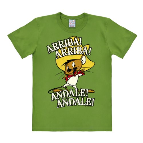 Logoshirt T-Shirt Speedy Gonzales - Speedy González - Arriba Andale - T-Shirt Looney Tunes - T-Shirt à col Rond de Vert - Design Original sous Licence