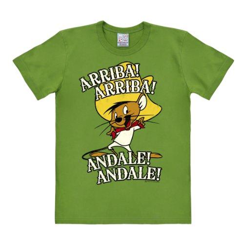 Logoshirt Speedy Gonzales T-Shirt - Looney Tunes Shirt - Rundhals T-Shirt Arriba Andale T-Shirt - hellgrün - Lizenziertes Originaldesign, Größe 3XL