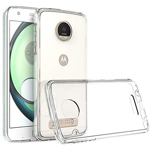 RKINC for Moto Z Play Case, Reinforced Corners Soft Cushion TPU Bumper + Hybrid Crystal Clear Rugged Hard Transparent Cover for Motorola Moto Z Play Droid/Moto Z Play 2016