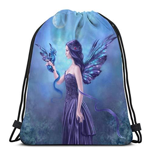 Drawstring Bag Iridescent Fairy & Dragon Floor Pillow Gift Bag