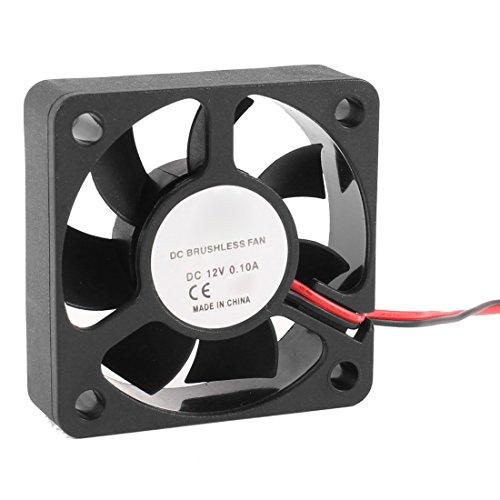 TOOGOO(R) 50mm 12V 2 Pines 4000RPM Rodamiento de manguito Ventilador de enfriamiento Enfriador de CPU caja para PC