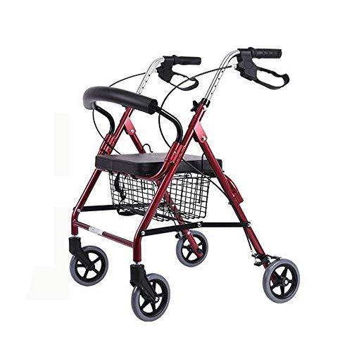Shopping cart Walker para el Anciano Walker Carrito de Compras de Aluminio...