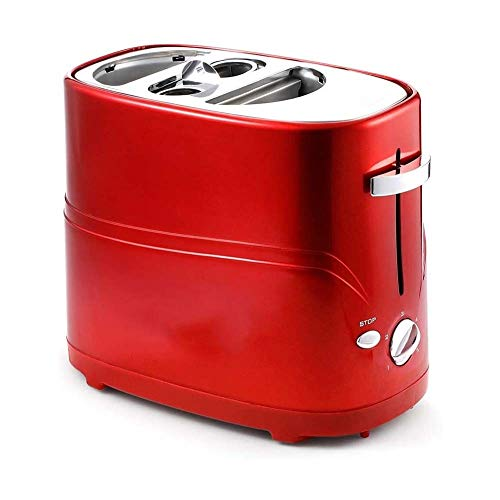 GSAGJsf Brotbackmaschine, Toaster, Removable Pop-Up Hot Dog Toaster Brotbackautomat mit Tong Einstellbare Garzeit einfach zu reinigen Frühstück Brot Hot Dog Toaster