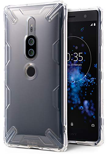 Ringke Air-X Case Compatible with Xperia XZ2 Premium Lightweight Transparent TPU Protective Case Scratch Resistant Supports QI Wireless Charging Sturdy Cover for Xperia XZ 2 Premium - Clear