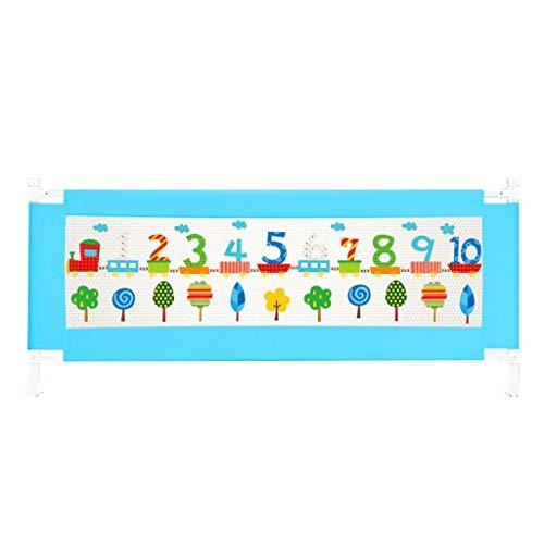 Shuai- Kinderzaun-Bett-Bett-einzelne faltende Sicherheitsbett-Stange mit dem Belüftungs-Netz passend for Kinder-sicheren Schlaf (Size : 150CM)