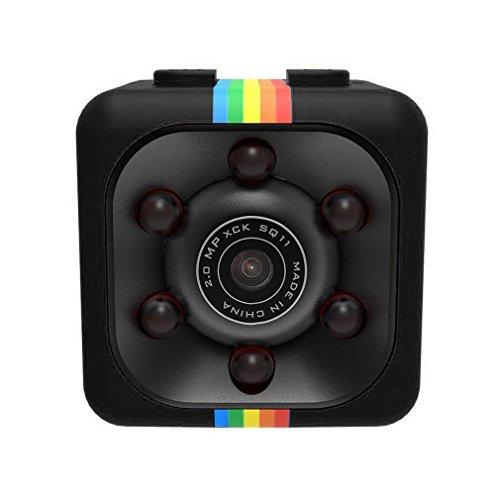 WEIHUIMEI SQ11 1080P Mini Cámara, Cámara Deportiva Cámara HD Videocámara Nocturna Miniatura,...