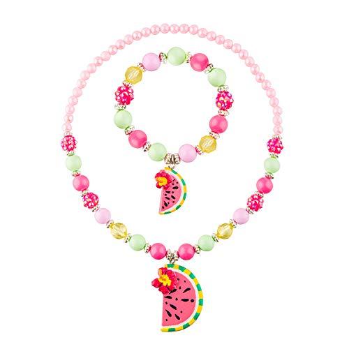 Skywisewin Chunky bijoux collier licorne et Bracelet Set pour les filles petits enfants