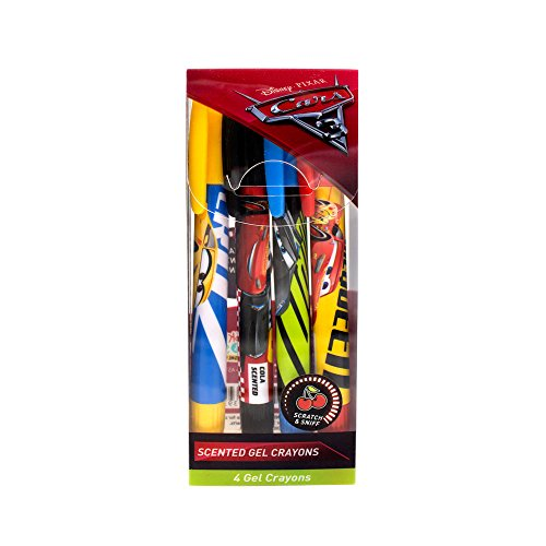 Scentco Disney Cars 3 Sketch & Sniff Scented Gel Crayons 4-Pack