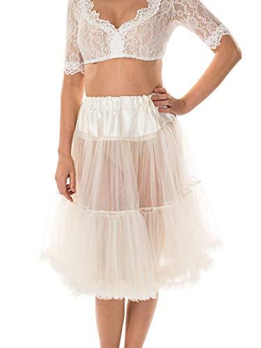 MarJo Trachten Petticoat 65cm Creme, M