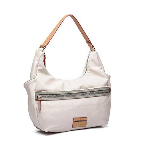 Abbacino bolso mujer de hombro hobo con bandolera color blanco