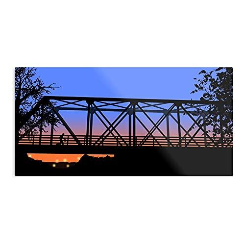 kineticards Bridge One Lucas Hill Scott Tree | Home Decor Wall Art Print Poster