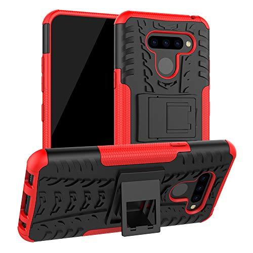 SCIMIN Capa para LG K12 Prime, capa híbrida para LG K12 Prime, proteção de camada dupla à prova de choque, capa híbrida robusta com suporte para LG K12 Prime de 6,26 polegadas