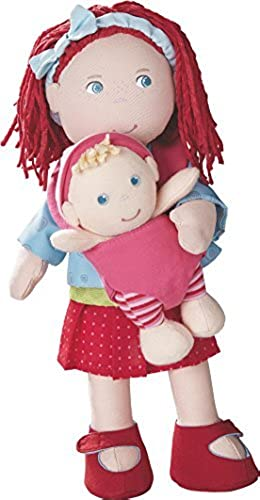 HABA Soft Rubina Doll with Removable Baby in Carrier, 12 by HABA