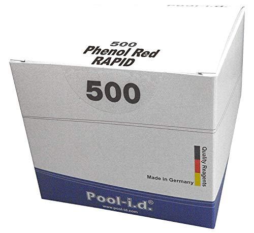 500 Rapid Testtabletten pH-Wert Phenol Red, Phenol Rot