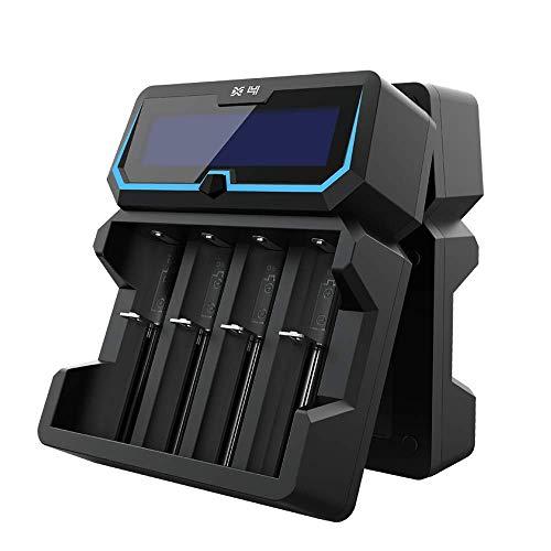 Xtar X4 18650-Cargador de batería de 2 A de alta potencia,2 puertos de entrada,pantalla LCD con función Power Bank,para 3,6 V/3,7 V,14500,16340,18650,20700,21700,26650,1,2 V,AAAA,A,A,SC C