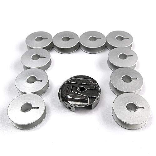 Estuche para bobinas + 10 bobinas para máquina de coser Refrey 427+