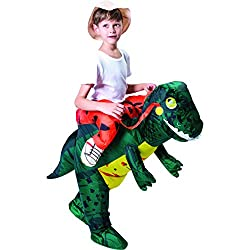 Inflatable Dinosaur Costume Riding a T-REX