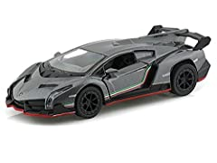 Official license product made by Kinsmart. pull back and go action with openable doors. 1/36 scale , about 5 inch Long Made and diecast and some plastic parts. for Kids 3 Years and UP.