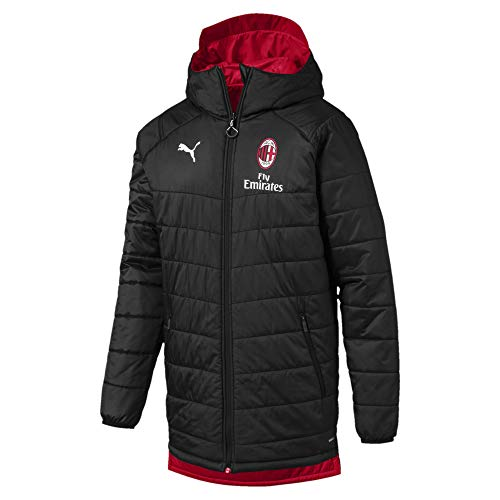 PUMA 2019-2020 AC Milan Reversible Bench Jacket (Black)