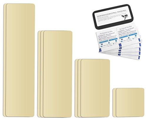 Selbstklebende Planenreparatur Tapes | 10 teilig | Easy Patch Comfort 100mm | Für Zelte, Planen uvm. | Elfenbein RAL 1014