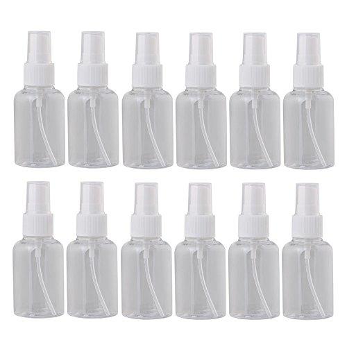bqlzr weiß transparent 50ml leer Kunststoff Flaschen Spritze Flasche Parfüm Zerstäuber Make-up Werkzeug 12Stück