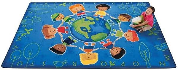 Printed Give The Planet A Hug Kids Rug Rug Size 6 X 9