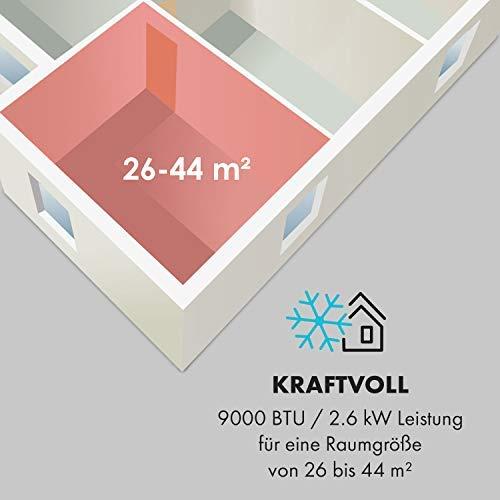 Klarstein New Breeze 7 - Aire acondicionado portátil 3 en 1: refrigeración, deshumidificación y...