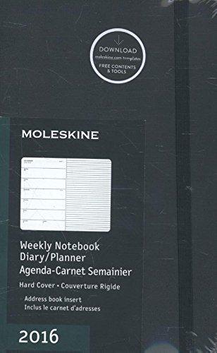 Moleskine 2016 Weekly Notebook, 12M, Large, Black, Hard Cover (5 x 8.25)