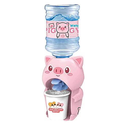 lefeindgdi Mini dispensador de agua, lindos animales panda fuentes de beber, juguetes con cubo de agua para niños de escritorio grifo de la botella