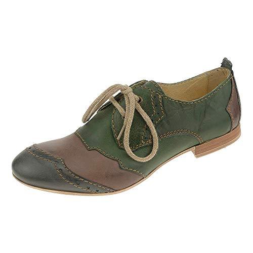 Rovers Damen Schuhe Leder Schnürhalbschuhe 38013 (37 EU)