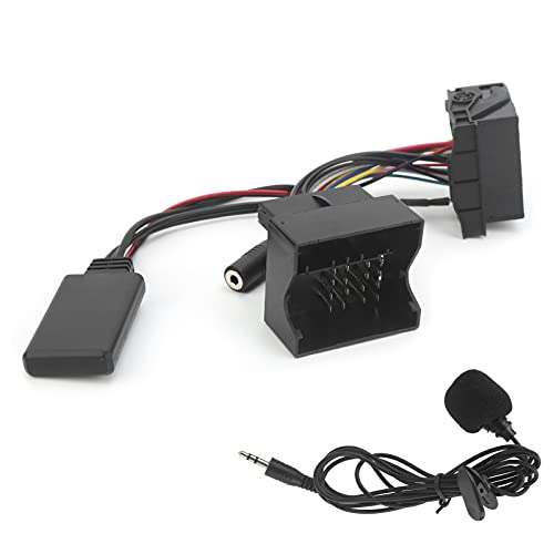 Adaptador de micrófono para coche Aramox, cable de audio AUX Bluetooth 5,0, adaptador de manos libres para micrófono apto para A3 A4 A2 TT 2006
