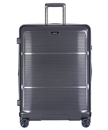 Koffer Reisekoffer Hartschalen Trolly Puccini® Vienna 3 Größen 5 Farben (Dunkelgrau (4A), Groß)
