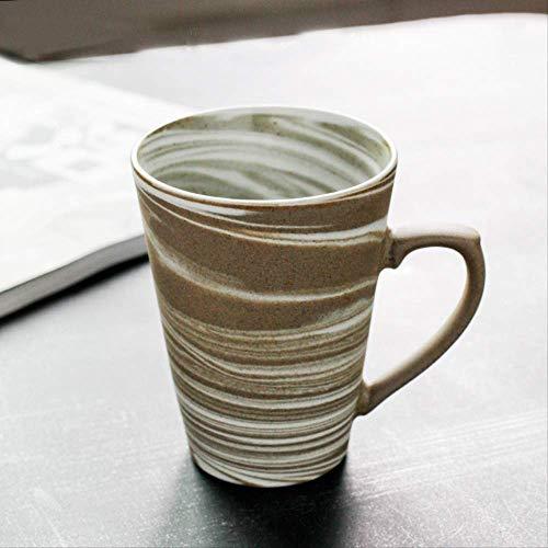 300ml Japanischen Stil Grobe Keramik Latte Kaffeebecher Nachmittag Tee Verdreht Haferflocken Tasse Wasser Glas Kreative Vintage Home Decor pro