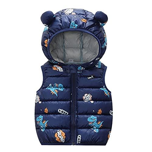 Dinnesis Cappotto per bambini con cappuccio, da ragazzo, per l'inverno, con cartoni animati, caldo, antivento, giacca invernale, Navyb, 5 anni