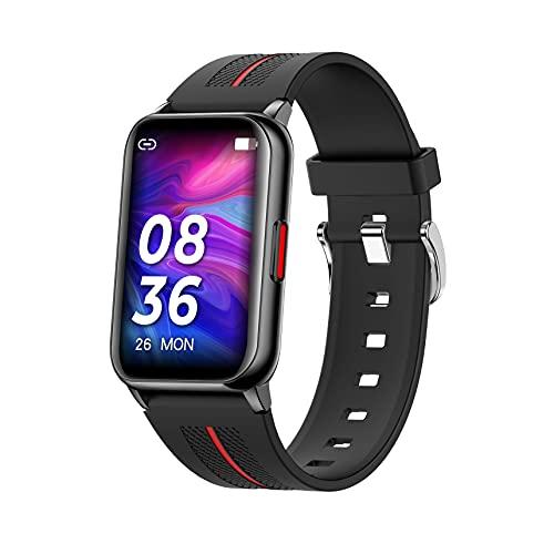 WSJZ Reloj Inteligente,Siéntase Libre De Cambiar El Tema De La Pantalla Táctil Pulsera Inteligente,Monitor De Actividad Física con Frecuencia Cardíaca,para iPhone/Android para Mujeres/Hombres,Negro