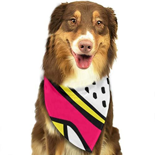 N/B hoge hakken aangepaste hond hoofddoek felgekleurde sjaals schattige driehoek slabbetjes accessoires voor huisdier honden