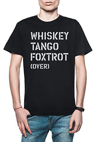 WTF (Over) Hombre Camiseta Negro Tamaño L - Men's T-Shirt Black