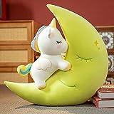 Peluche 60cm Lindo Creativo Luna Unicornio Almohada Abrazos Peluches Suaves para Niñas Kawaii Decoración De Dormitorio Almohadas De Anime