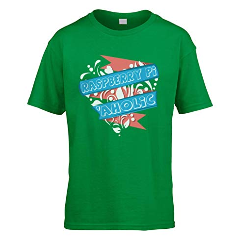 This Way Up Raspberry Pi Aholic Kids T-Shirt [Green X-Small]