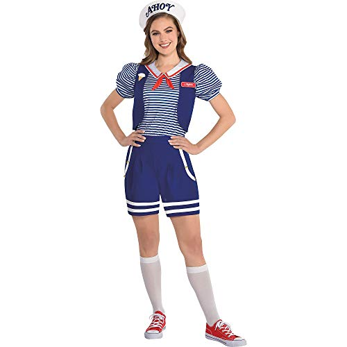 Party City Stranger Things Robin Scoops Ahoy Halloween Costume for Women, Netflix, Small/Medium, with Accessories