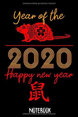 Notebook Happy New Year: Notizbuch Blanko A5 Geschenk Für Fans Des Chinesischen Horoskop / Organizer Mit 120 Seiten Notizen Schreibheft Kariert Planer / Tagebuch Oder Notizheft Für Chinesische Freunde