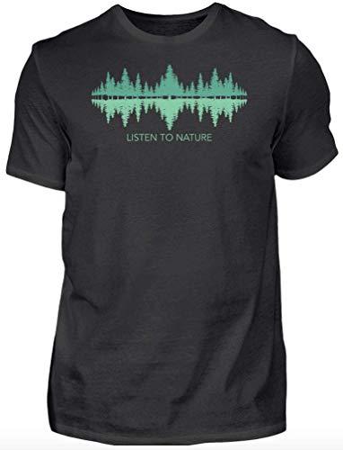 HOLZBRÜDER® Listen to Holz T-Shirt perfekt für die Arbeit mit der Kettensäge im Wald (XL, Forest)