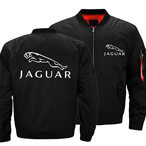 Men's Bomber Jacket for Jaguar Flight Windproof Lightweight Outwear Autumn And Winter Warm Padded Coat Full Zip Pockets -Adult Gift