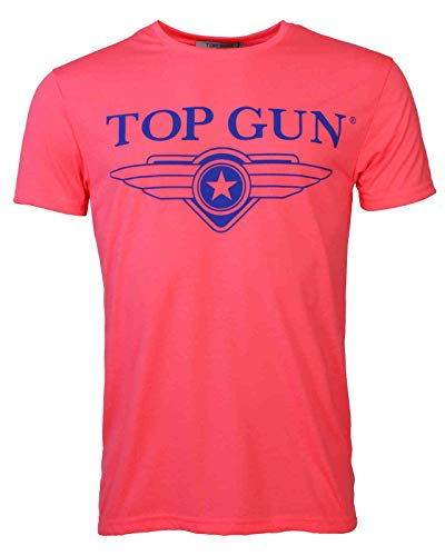 Top Gun Herren T-Shirt In Neon Radiate Pink,s