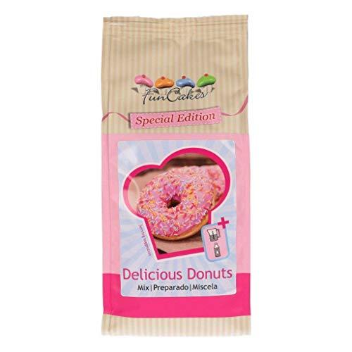 FunCakes Mix für köstliche Donuts, Backen Sie ganz einfach Ihre eigenen Donuts zu Hause in der Friteuse oder im Ofen, Halal. 500 g.