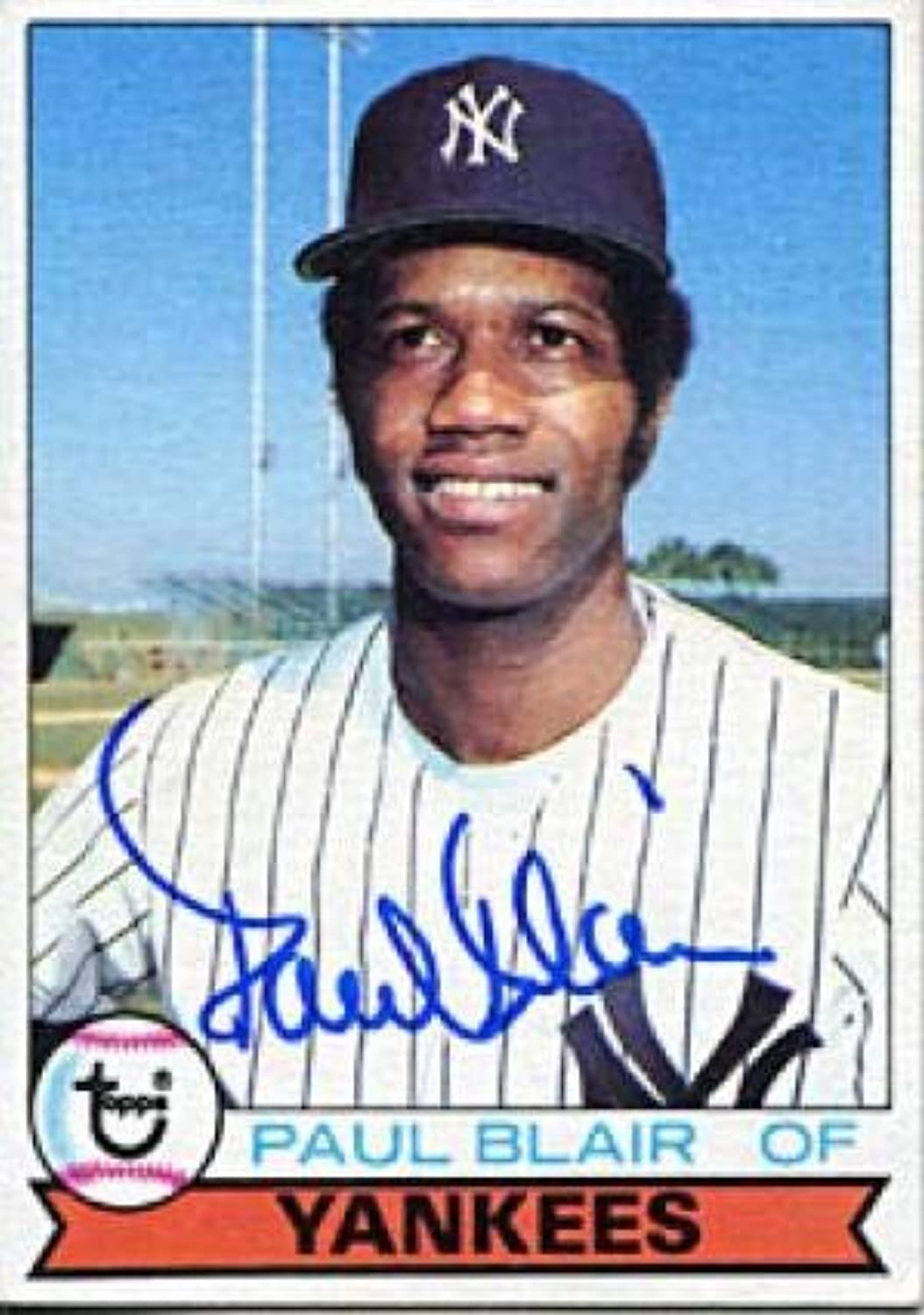 Paul Blair Autographed Signed 1979 Topps Card  Autographed Baseball Cards